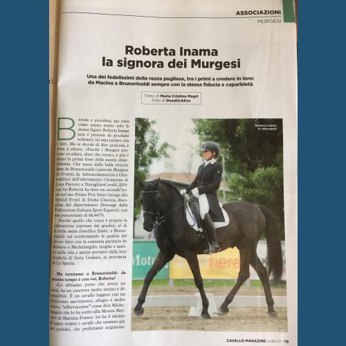 Cavallo Magazine  di Luglio 2019 parla di noi
