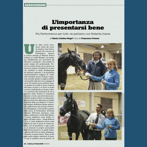 """Articolo su Performance del cavallo Murgese """"Cavallo Magazine"""""""